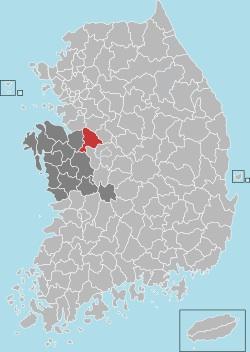 Cheonan map 001