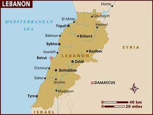 Lebanon map 001
