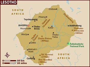 Lesotho map 001