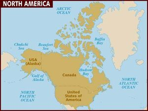North America map 001