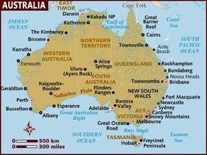 Australia map 001