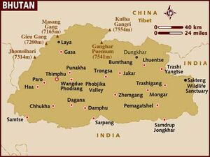 Bhutan map 001