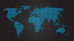 World map black 002