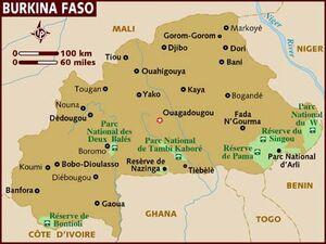 Burkina Faso map 001