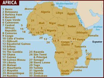 Africa map 001