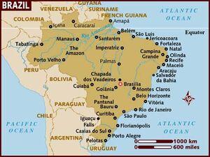 Brazil Map 001