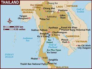 Thailand map 001
