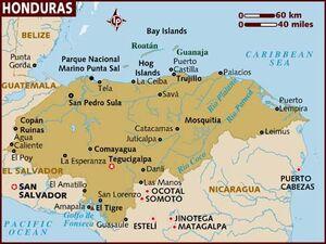 Honduras map 001
