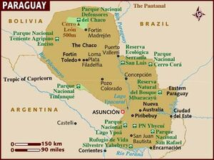 Paraguay map 001