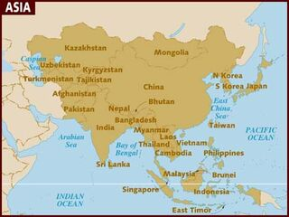 Asia map 001