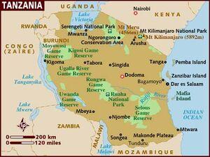 Tanzania map 001