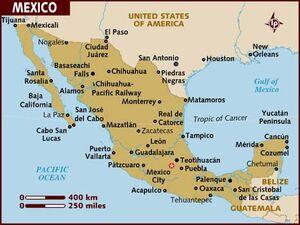 Mexico Map 001