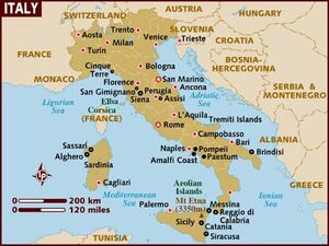 Italy map 001