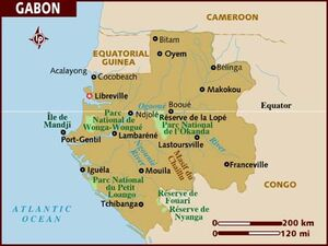 Gabon map 001