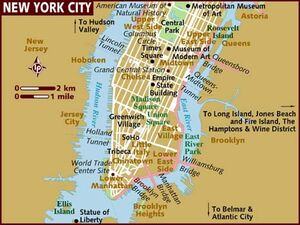 New York City map 001