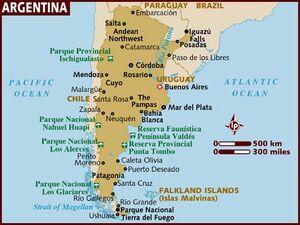 Argentina Map 001