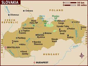 Slovakia map 001