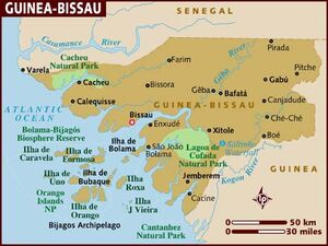 Guinea-Bissau map 001
