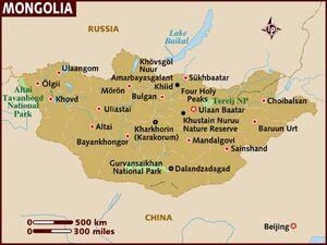 Mongolia map 001