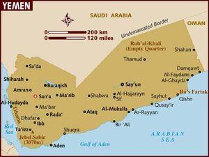 Yemen map 001