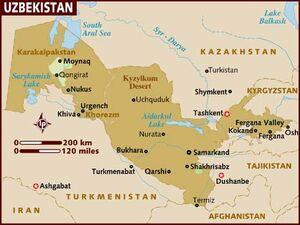 Uzbekistan map 001