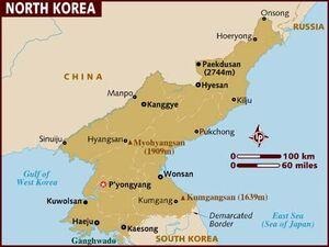 North korea map 001