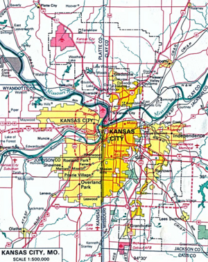 Kansas City, Missouri map 001