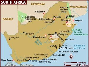 South Africa map 001