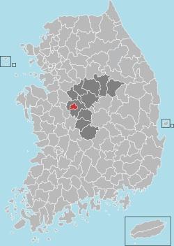 Cheongju map 001
