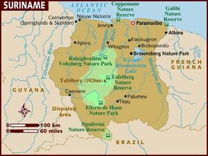 Suriname map 001