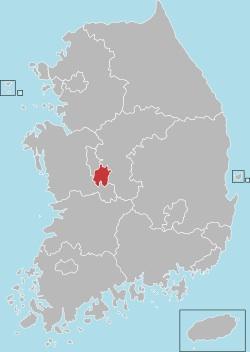 Daejeon map 001