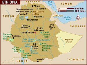 Ethiopia map 001