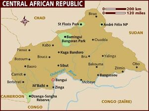 Central African Republic map 001