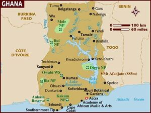 Ghana map 001