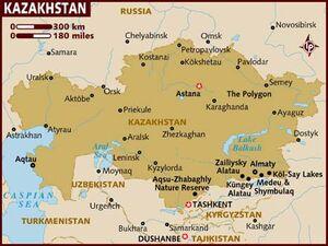Kazakhstan map 001