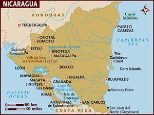 Nicaragua map 001