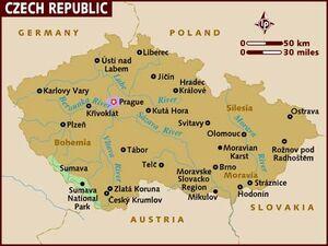 Czech republic map 001