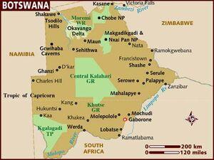 Botswana map 001