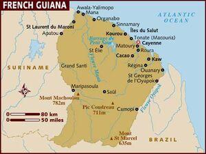French Guiana map 001