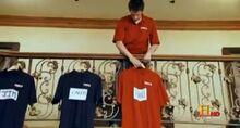 Andre Robinson shirt hanging