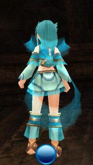 Aqua garb back