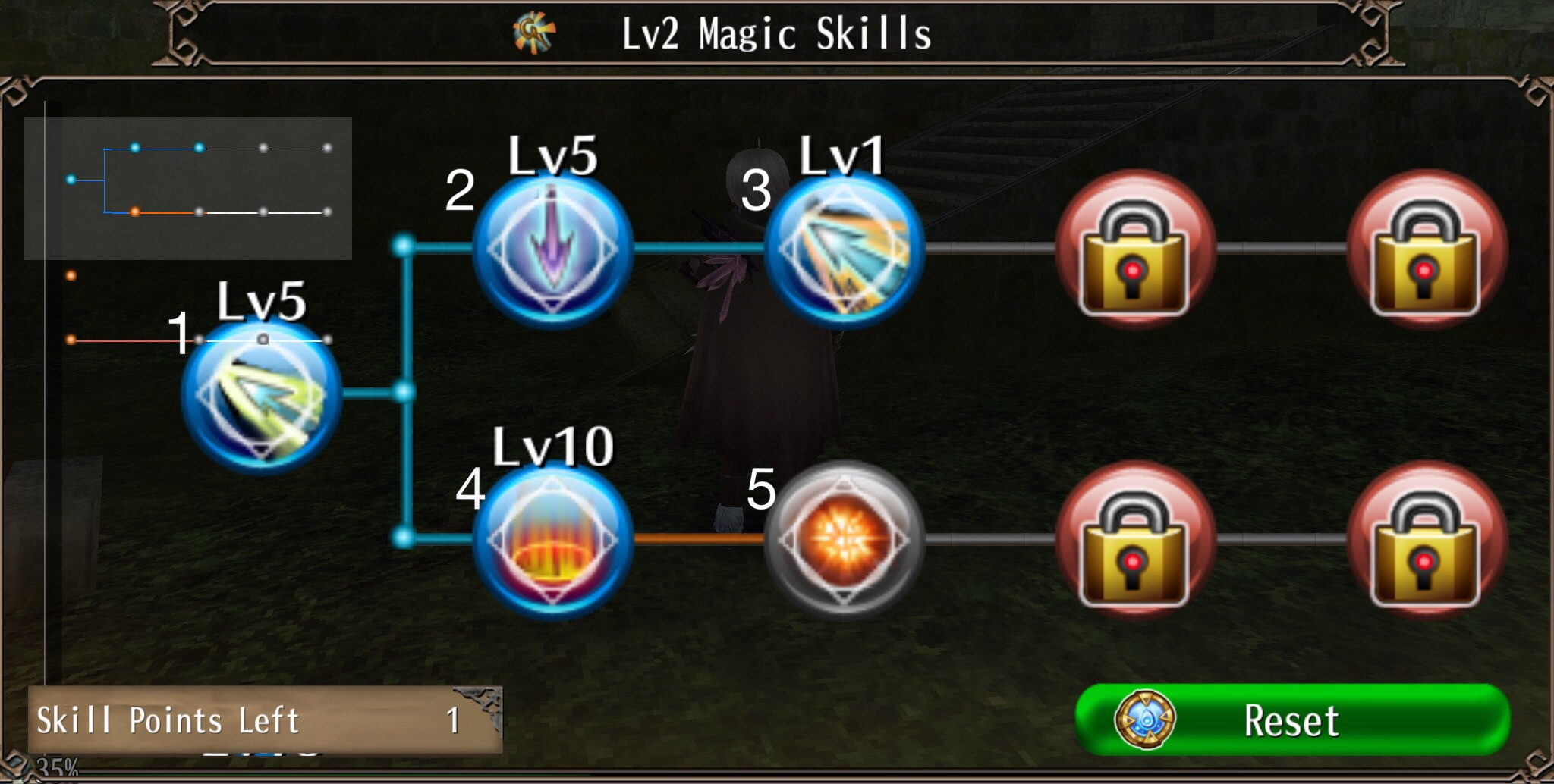 Magic Skill Tree 1 Magic Skills