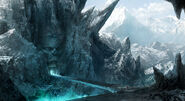 1500x821 5018 We Found The Gate To Hell 2d fantasy demon snow horror concept art matte painting adventure ice hell mountain pi