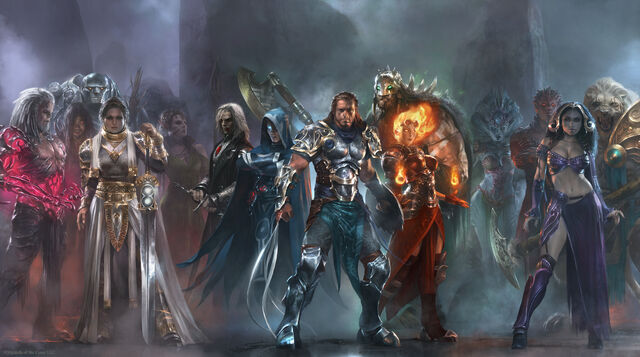 File:Planeswalkers pantheon by cryptcrawler-d41iikm.jpg
