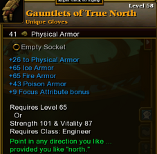 Gauntlets of True North
