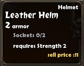 Leather Helm Details