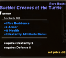 Buckled Greaves of the Turtle