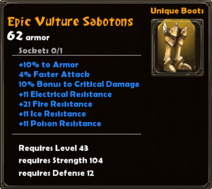 Epic Vulture Sabotons
