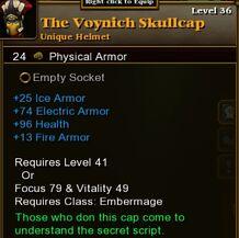 The Voynich Skullcap