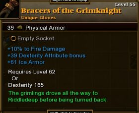 Bracers of the Grimknight